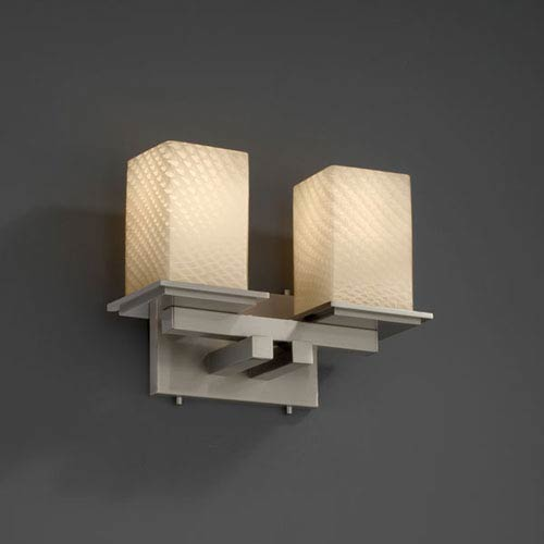 Justice Design Group Fusion Montana Two-Light Brushed Nickel Bath Fixture