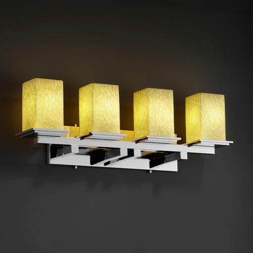 Justice Design Group Fusion Montana Four-Light Bath Fixture