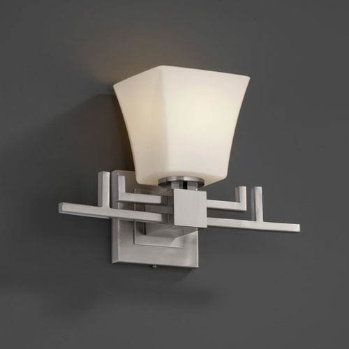 Justice Design Group Fusion Aero Brushed Nickel Wall Sconce