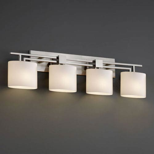 Justice Design Group Fusion Aero Four Light Brushed Nickel Bath Fixture