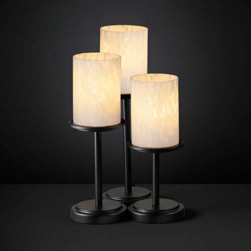 Justice Design Group Fusion Dakota Three-Light Matte Black Table Lamp