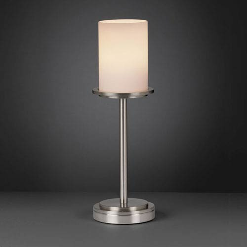 Fusion Dakota Brushed Nickel Tall Table Lamp
