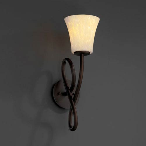 Justice Design Group Fusion Capellini Dark Bronze Wall Sconce