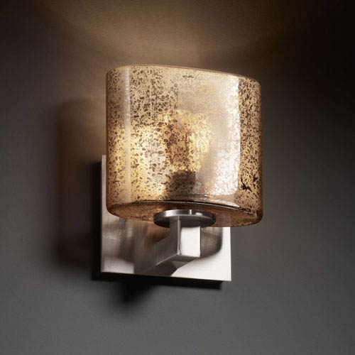 Fusion Modular Brushed Nickel Wall Sconce