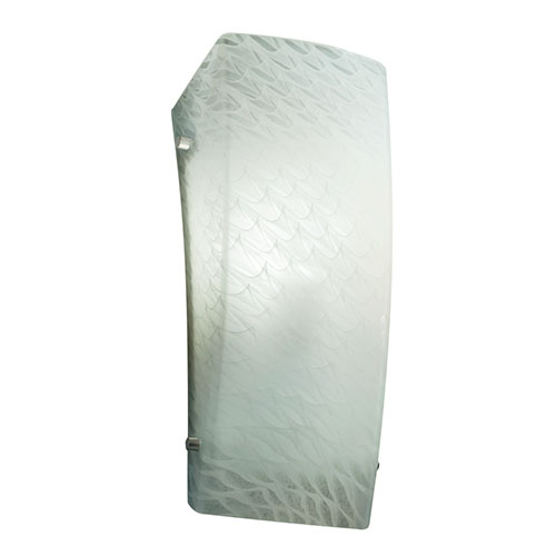 Fusion Brushed Nickel One-Light Rectangular Finial Wall Sconce with Weave Glass
