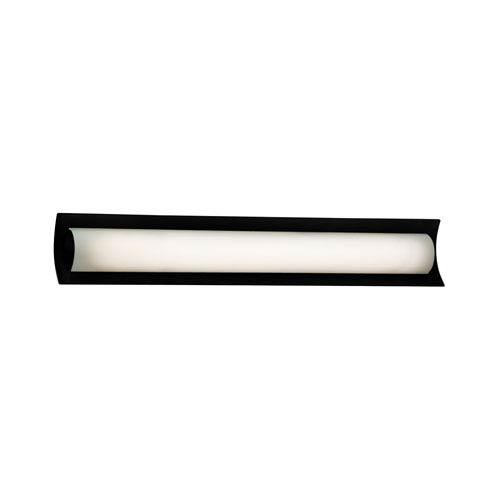 Fusion  Matte Black 30-Inch LED Bath Bar