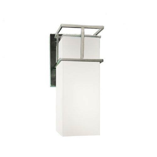 Fusion Brushed Nickel 6.5-Inch Outdoor LED Wall Sconce