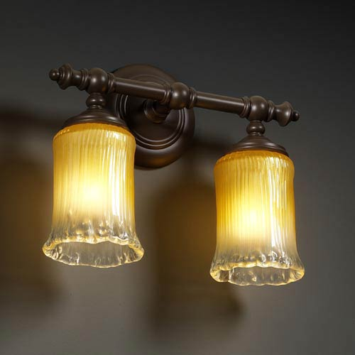 Justice Design Group Veneto Luce Tradition Two-Light Bath Fixture