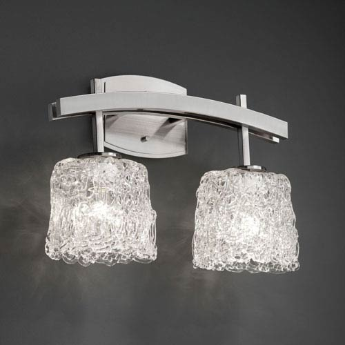 Veneto Luce Archway Two-Light Brushed Nickel Bath Fixture