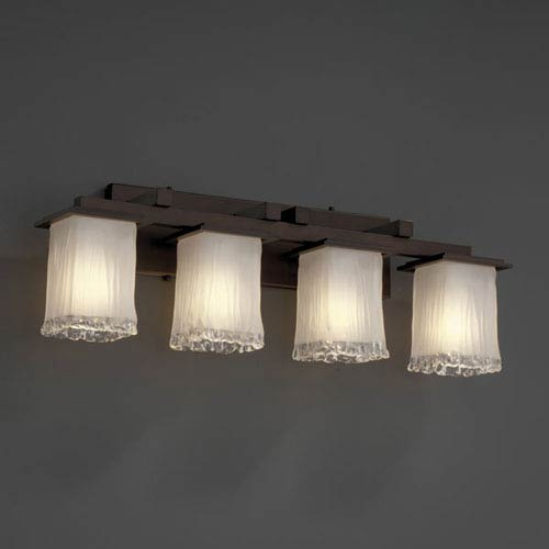 Veneto Luce Montana Four-Light Dark Bronze Bath Fixture