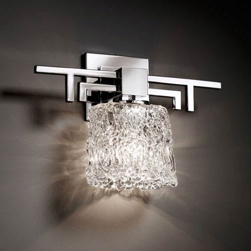 Justice Design Group Veneto Luce Aero Polished Chrome Wall Sconce