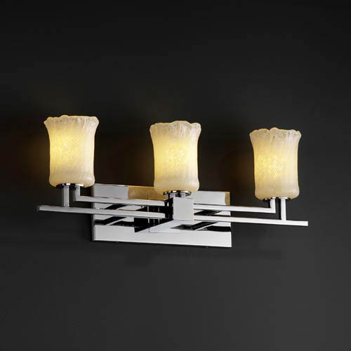Justice Design Group Veneto Luce Aero Three-Light Bath Fixture