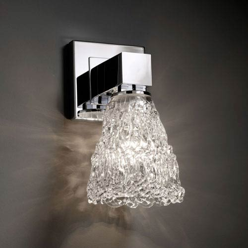 Veneto Luce Aero Polished Chrome No Arms Wall Sconce