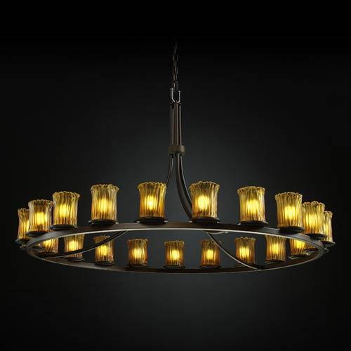 Justice Design Group Veneto Luce Dakota Twenty-One-Light Ring Chandelier