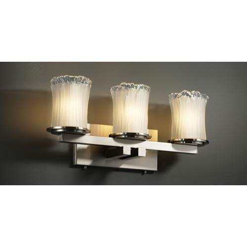 Justice Design Group Veneto Luce Dakota Three-Light Straight Bath Fixture