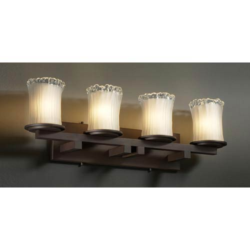 Justice Design Group Veneto Luce Dakota Four-Light Straight Bath Fixture
