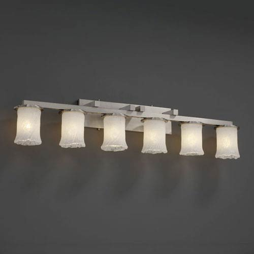 Veneto Luce Dakota Six-Light Brushed Nickel Bath Fixture