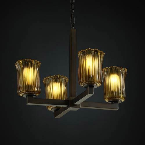 Justice Design Group Veneto Luce Modular Four-Light Chandelier
