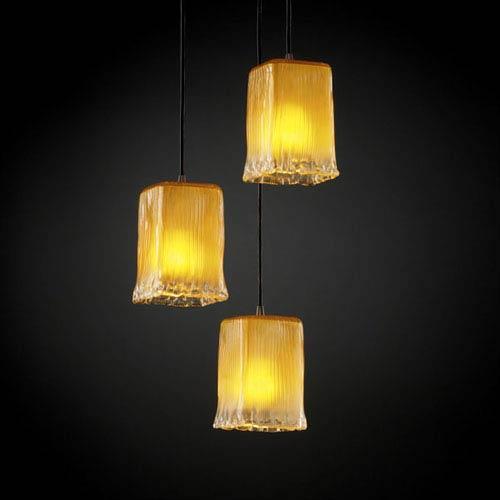 Justice Design Group Veneto Luce Modular Three-Light Dark Bronze Cluster Mini Pendant