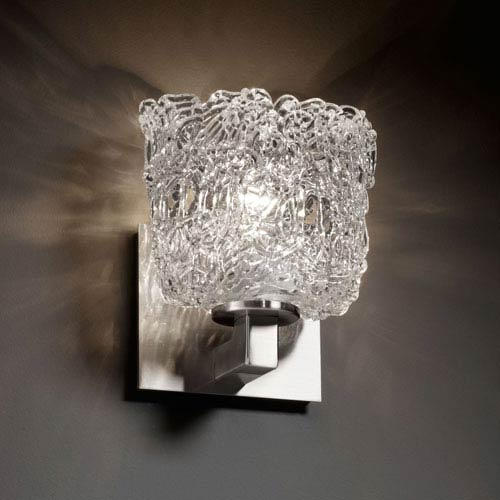Justice Design Group Veneto Luce Modular Brushed Nickel Wall Sconce