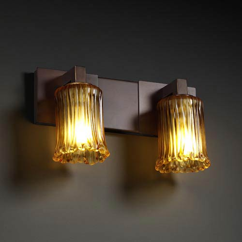 Justice Design Group Veneto Luce Modular Two-Light Bath Fixture