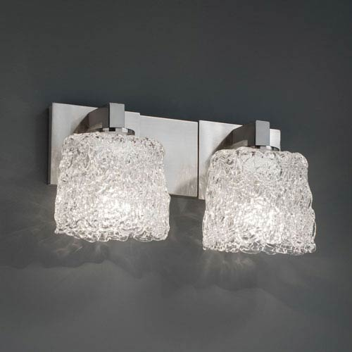 Justice Design Group Veneto Luce Modular Two-Light Brushed Nickel Bath Fixture