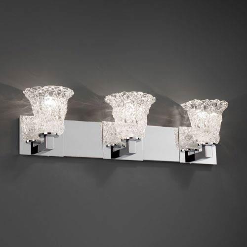 Justice Design Group Veneto Luce Modular Three-Light Polished Chrome Bath Fixture
