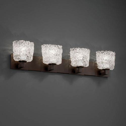 Veneto Luce Modular Four-Light Dark Bronze Bath Fixture