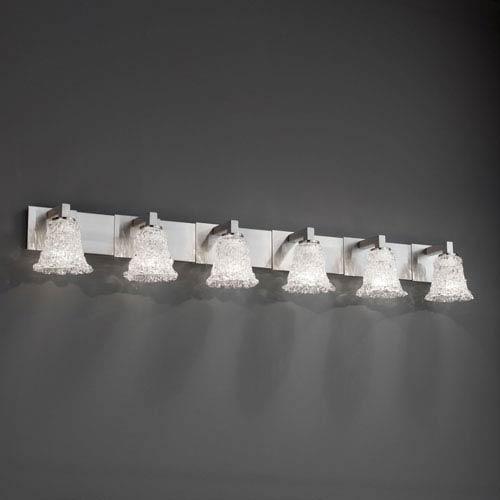 Justice Design Group Veneto Luce Modular Six-Light Brushed Nickel Bath Fixture