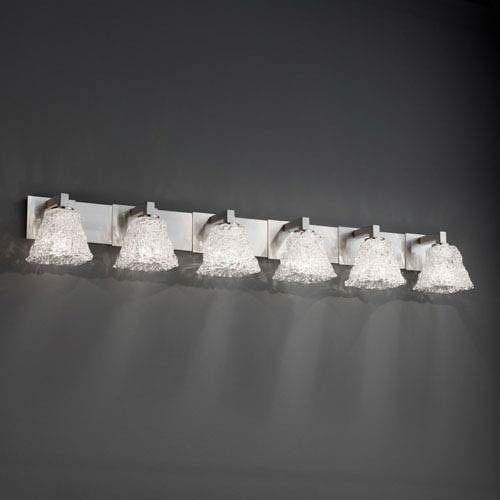 Veneto Luce Modular Six-Light Brushed Nickel Bath Fixture