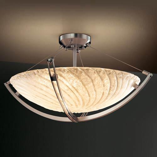 Justice Design Group Veneto Luce 18-Inch Semi-Flush with Crossbar