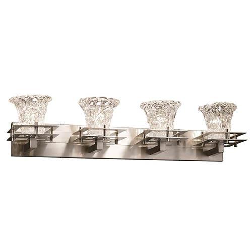 Veneto Luce Brushed Nickel Four-Light Bath Bar