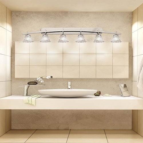 Veneto Luce Brushed Nickel Six-Light Bath Bar