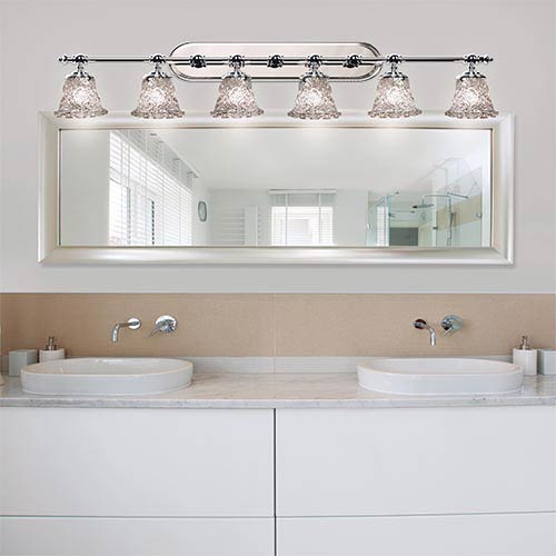 Justice Design Group Veneto Luce Polished Chrome Six Light Bath Bar