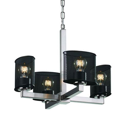 Wire Mesh™  Brushed Nickel Four-Light Chandelier