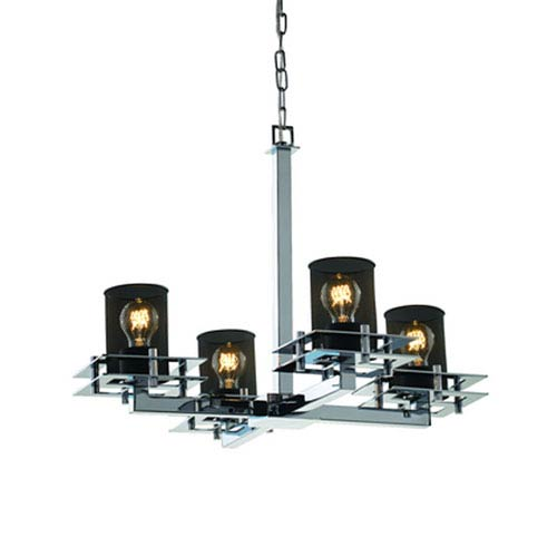 Wire Mesh™  Polished Chrome Four-Light Chandelier