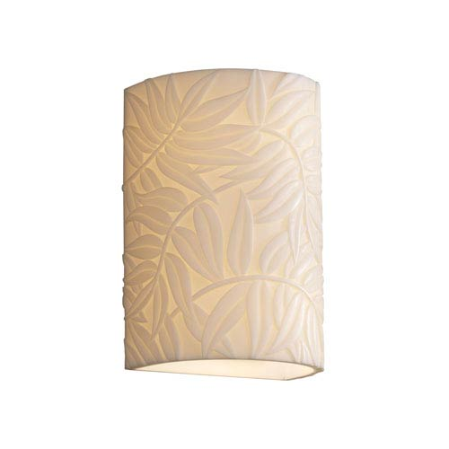 Porcelina Wall Sconce Small Cylinder Faux Porcelain Open Top and Bottom Outdoor Wall Sconce