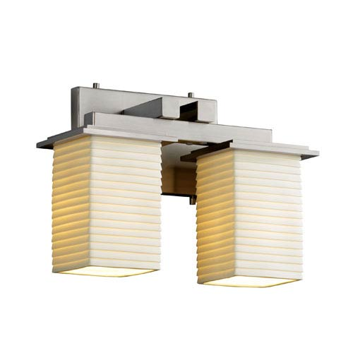 Justice Design Group Limoges Montana Two-Light Brushed Nickel Bath Fixture