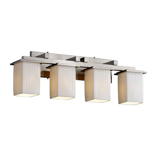 Justice Design Group Limoges Montana Four-Light Brushed Nickel Bath Fixture
