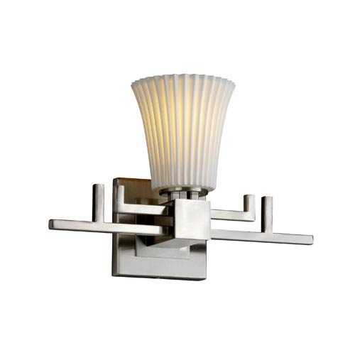 Justice Design Group Limoges Aero Brushed Nickel Wall Sconce