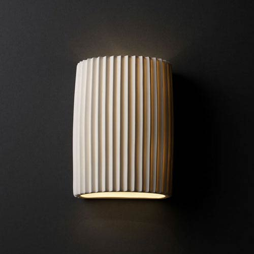 Limoges Wall Sconce Small Cylinder Translucent Porcelain Wall Sconce