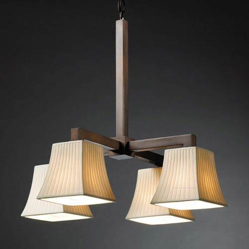 Justice Design Group Limoges Modular Four-Downlight Dark Bronze Chandelier