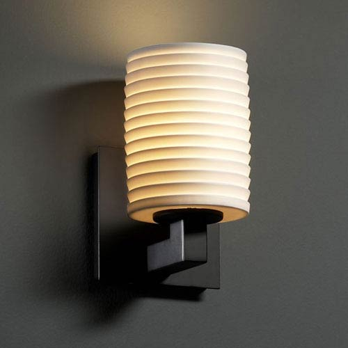 Justice Design Group Limoges Modular Matte Black Wall Sconce