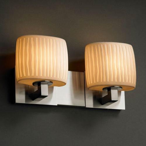Justice Design Group Limoges Modular Two-Light Brushed Nickel Bath Fixture