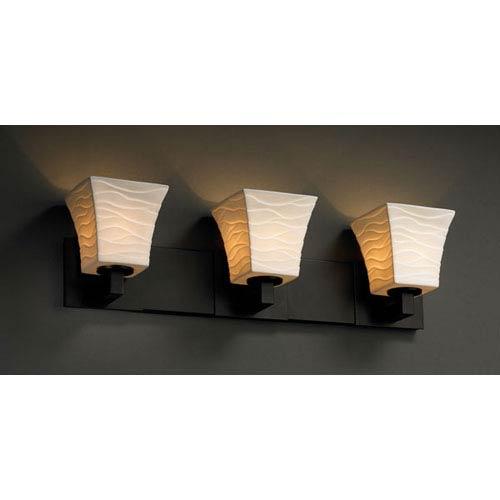 Justice Design Group Limoges Modular Three-Light Matte Black Bath Fixture