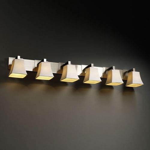 Limoges Modular Six-Light Brushed Nickel Bath Fixture