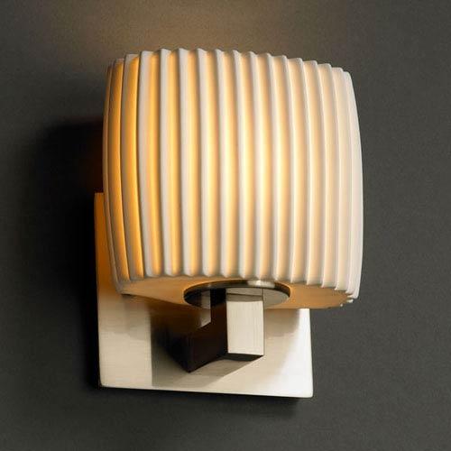 Justice Design Group Limoges Modular Brushed Nickel Wall Sconce