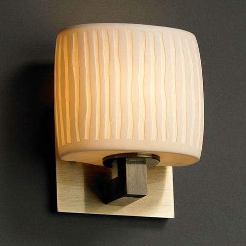 Justice Design Group Limoges Modular Antique Brass Wall Sconce