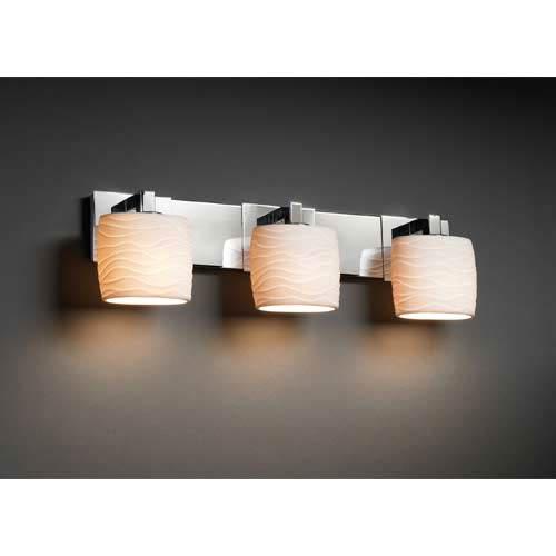 Justice Design Group Limoges Wave Oval Three-Light Bath Fixture