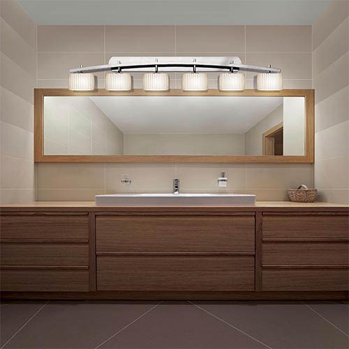 Justice Design Group Limoges Polished Chrome Six Light Bath Bar Por ...